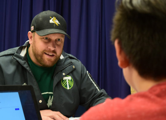 Shadow Reading Coaching Life-Changing for Timbers Mascot