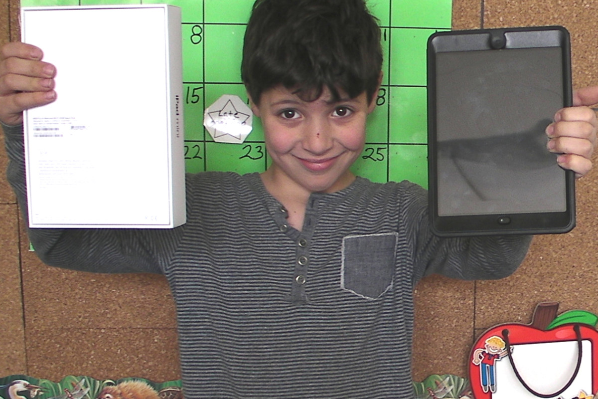 Shadow Student Raises Funds for Class iPad