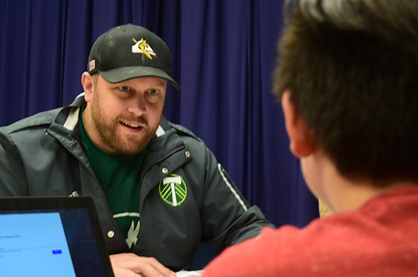 Audiobook Mentoring Life-Changing for Timbers Mascot